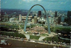 Missouri St Louis Aerial View Gateway Arch and V P Fair Celebration