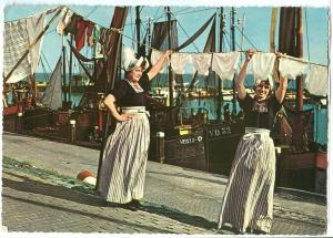 Volendam, two women wearing traditional cloths, 1960s