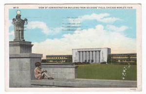 Admin Building from Soldier Field Chicago World's Fair 1933 Illinois postcard