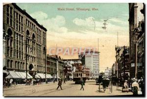 Postcard Old Main Street Winnipeg, Man