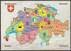 Switzerland, Map, unused