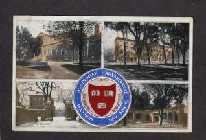 MA 1912 Harvard University Uni Cambridge  Massachusetts Mass Postcard