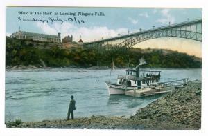 Maid of the Mist at Landing, Niagara Falls, New York, docketed 1919, unused PPC