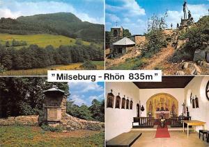 Milseburg im Naturpark Rhoen mit Kapelle Kanzel Kreuzgruppe