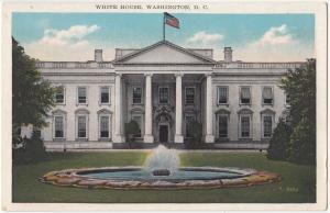 White House, Washington DC, 1910s-20s, unused Postcard
