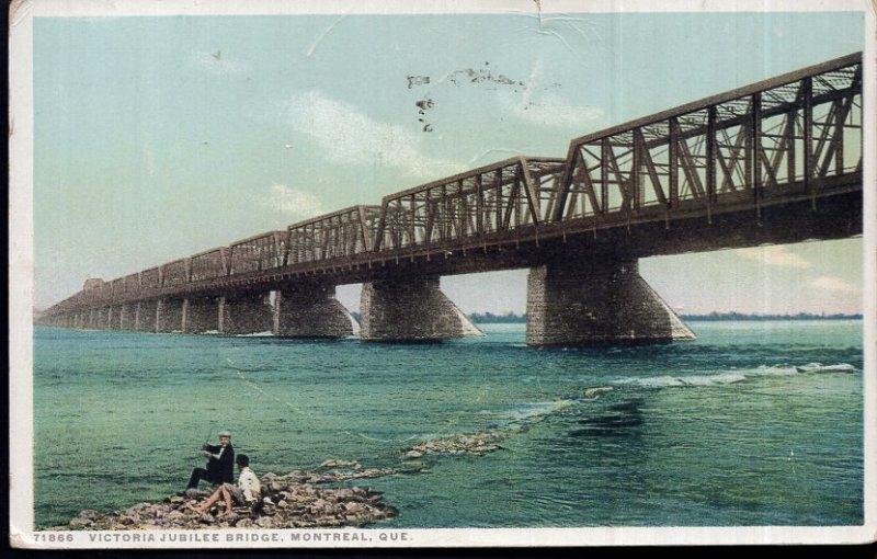 Quebec MONTREAL Victoria Jubilee Bridge - pm1917 - Divided Back