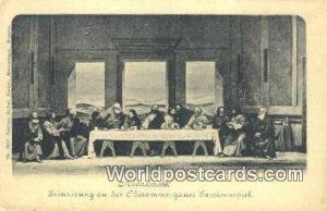 Erinnerung an das Oberammergauez Passionsspeil Abendmahl Germany Unused