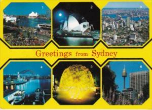 Australia Sydney Skyline Circular Quay Opera House Harbour Bridge El Alamein ...