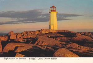 Lighthouse at sunrise,Peggy's Cove,Nova,Canada,50-70s