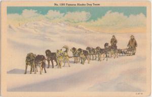 Alaska AK Postcard 1948 FAMOUS ALASKA SLED DOG TEAM No 1393 Huskies