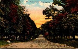 Wisconsin Columbus James Street Curteich