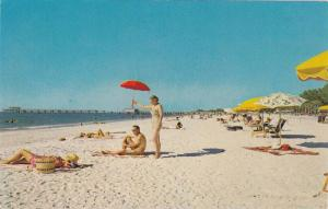 Clearwater's Famous South Beach,  Clearwater,  Florida,  40-60s