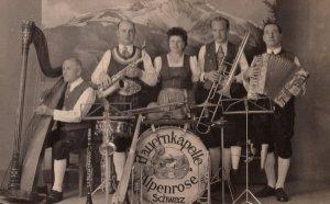 Salzburg Swiss Austrian German Folk Music Band Real Photo Old Postcard