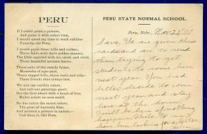 Peru Nebraska ne State Normal School old 1900s postcard