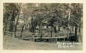 1920s Nogogami Lodge Rolla Missouri RPPC Photo Postcard Route 66 5379