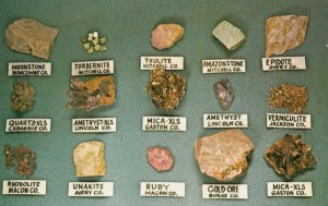 MINERALS of North Carolina , 1950-60s
