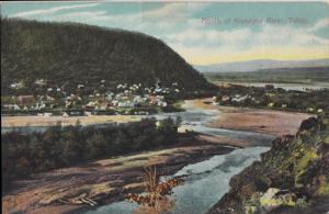 DAWSON CITY - VIEW of the MOUTH of the Klondyke River , 1900s