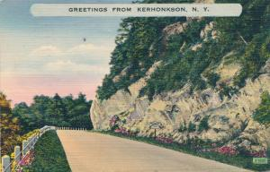 Greetings from Kerhonkson, Ulster County NY, New York - pm 1949 - Linen