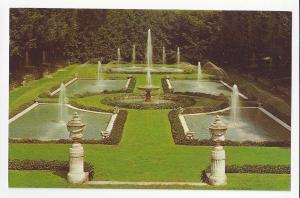 PA Kennett Square Longwood Italian Water Garden Vtg Postcard