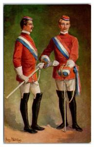Early 1900s Die Herren Chargierten, Georg Muhlberg Fencing Postcard