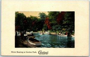 Cleveland, Ohio Postcard Motor Boating at Gordon Park Sixth City / 1912 Cancel