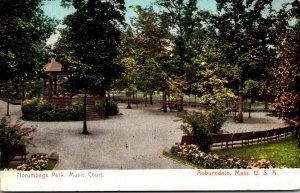 Massachusetts Auburndale Norumbega Park Music Court 1907