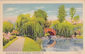 Pennsylvania Harrisburg Japanese Bridge Italian Gardens