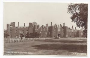 UK London Hampton Court Palace Fountain West Front RPPC