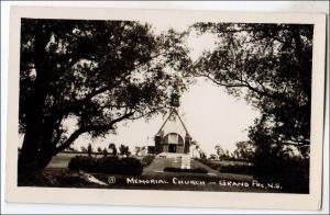 Canada - RPPC, Memorial Church, Grand Pre, NS