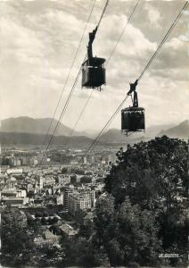 France Isere Grenoble  Croisement du Teleferique Telpher cable-way