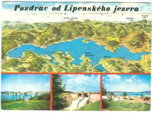 Czech Republic, Pozdrav od Lipenskeho jezera, used Postcard