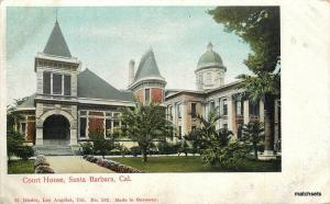 C-1910 Court House Santa Barbara California Rieder undivided postcard 9832