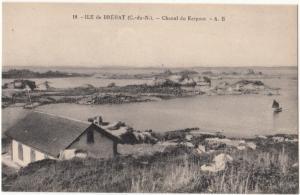 France, ILE de BREHAT, Chenal du Kerpont, unused Postcard