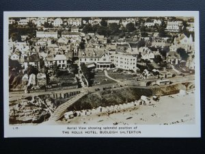 Devon BUDLEIGH SALTERTON The Rolle Hotel Aerial View - Old RP Postcard