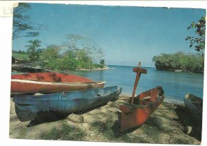 03 30 1983 PC Fishermen's Dug-out canoes made from giant cotton