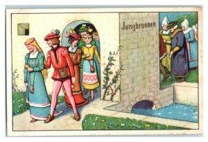 Fountain of Youth, Schlaraffenland, Echte Wagner German Trade Card *VT31R