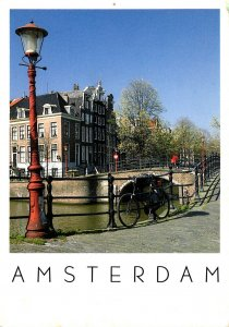 Netherlands Amsterdam Canal Scene 1993