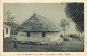 Polynesian island in the Pacific Ocean Wallis Island LANO natives house