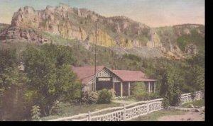 South Dakota Savoy Latchstring Inn Handcolored Albertype