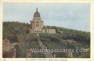 St Joseph's Oratory Montreal Canada Unused