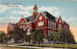 B31/ McAlester Oklahoma Ok Postcard c1910 McAlester High School Building