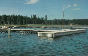 WASKESIU, Prince Albert National Park, Saskatchewan, 1950-60s; Marina on Lake...