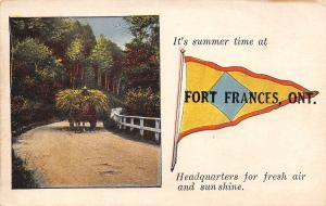 Summer Time at Fort Frances Ontario~Fresh Air Sunshine HQ~Hayrack~1916 Pennant