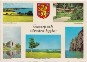 Sweden, Omberg och Alvastra-bygden, multi view, unused Postcard