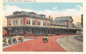 Waterville Maine MC Railroad Station Antique Postcard J48521