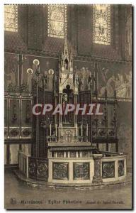 Old Postcard Maredsous Abbey Church Altar of St. Benedict