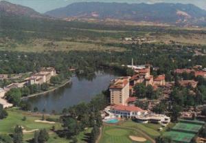 Colorado Colorado Springs Aerial View Broadmoor Hotel & Golf Course