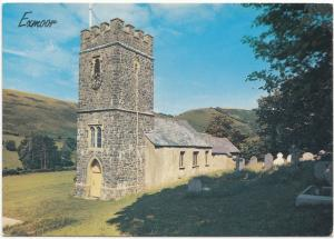 UK, Exmoor, Oare Church, unused Postcard