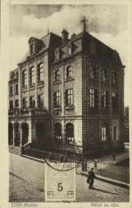 luxemburg, ESCH-sur-ALZETTE, Hôtel de Ville, Town Hall (1915) Stamp