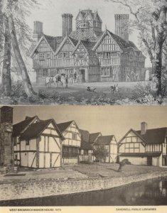 West Bromwich Manor Oak House Staffs RPC 2x Postcard